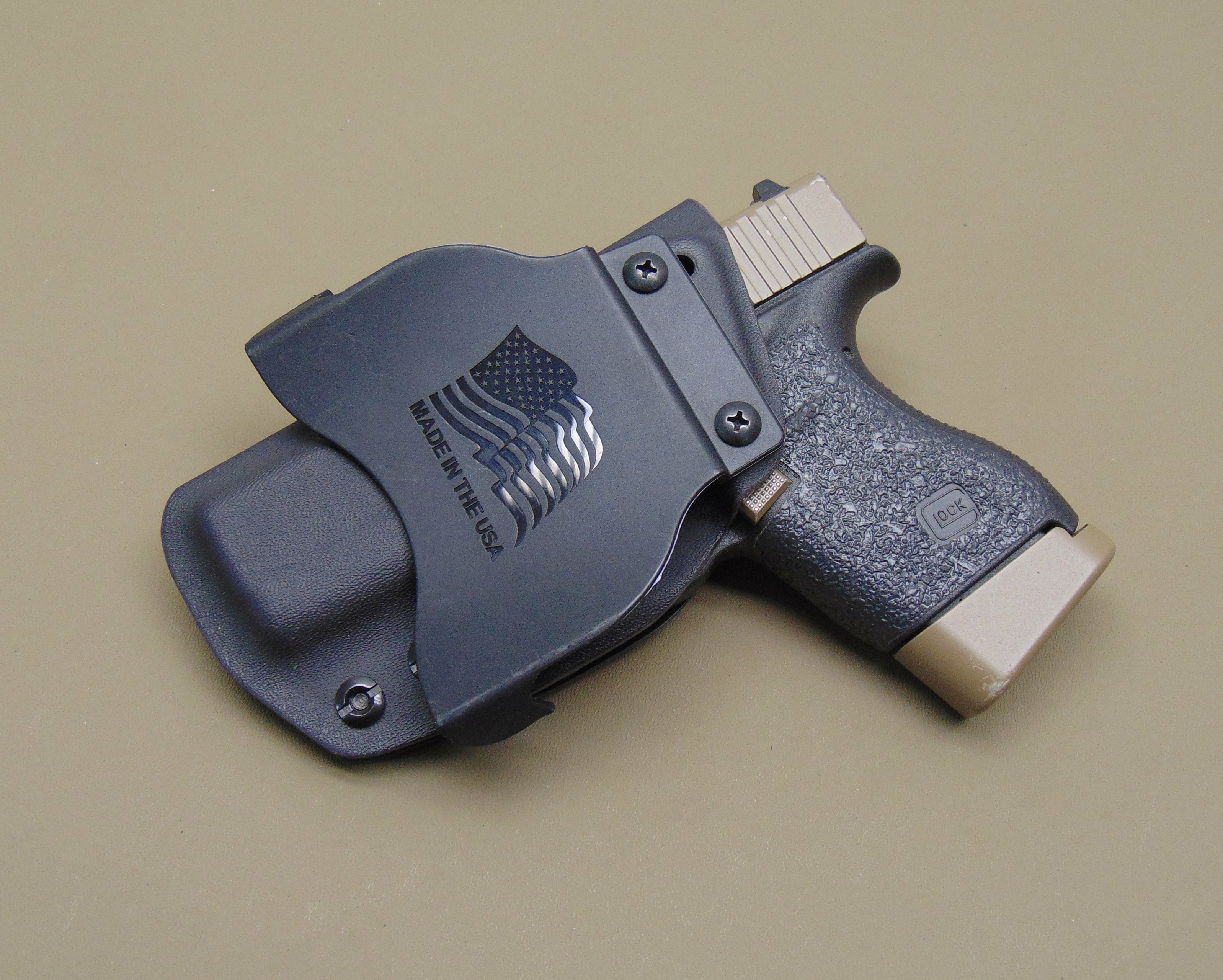 Kydex OWB Paddle Holster for the Glock 43